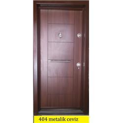 Çelik kapı 404 metalik ceviz