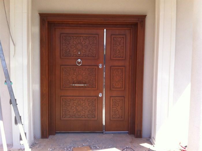villa kapısı özel seri dış çelik kapılar ve ahşap kaplama villa kapıları